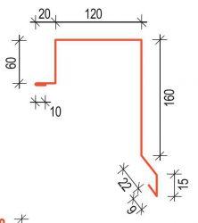 Závětrná lišta horní ZLR 120 Rapid SATJAM