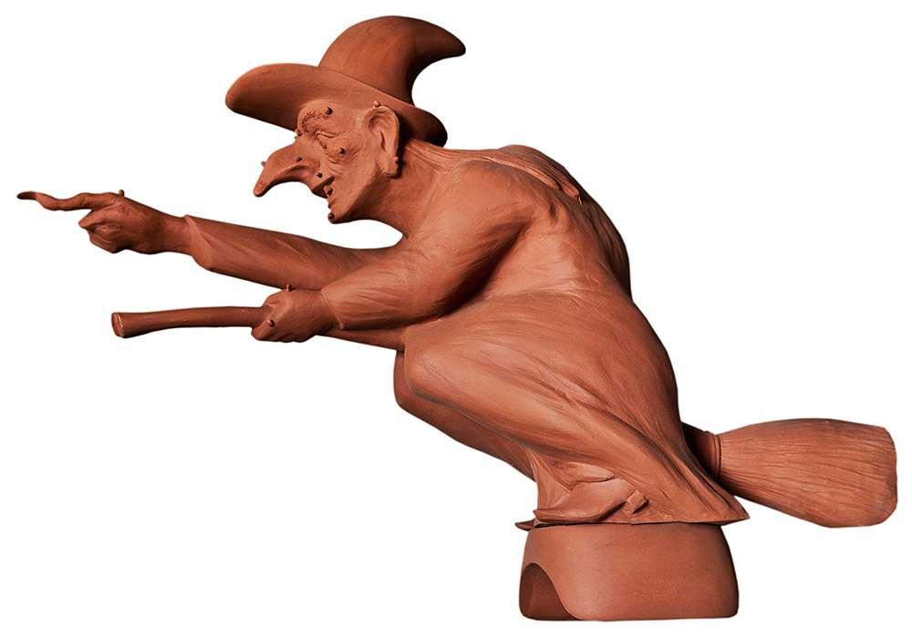Čarodějnice na hřebenáč výška 62 cm ROBEN