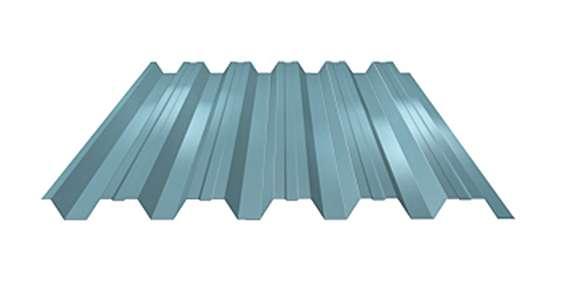 Stěnový trapézový plech s prolisem LVP45 Dn tl. 0,50 mm LINDAB
