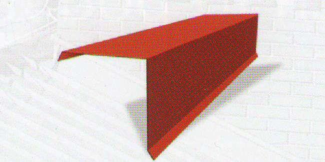 Závětrná lišta horní 2000mm (krycí délka 1900mm) UNIPLECH