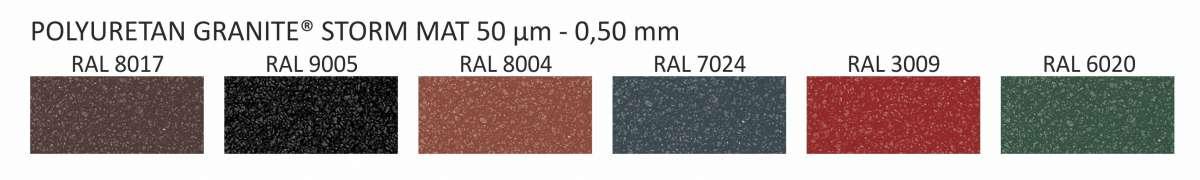 PLECH PU Granite Storm Mat (0,5x1250x2000) OMAK ROOF