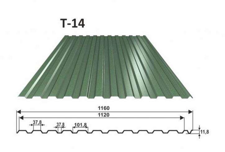 trapézový plech T-14 OMAK LINE