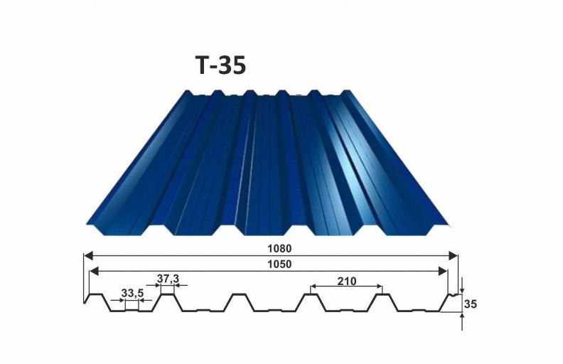 trapézový plech T-35 OMAK LINE