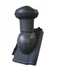Ventilační komínek VITRIUM 125mm (do taškových betonových a pálených krytin)