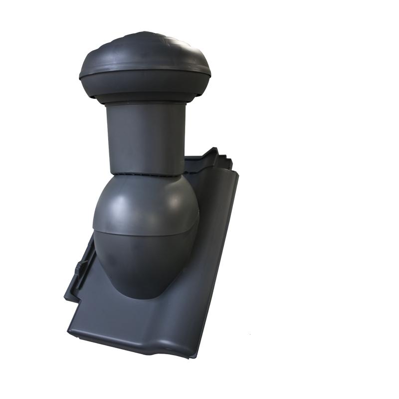 Odvětrávací komínek VITRIUM (sanitární) 160mm (do taškových betonových a pálených krytin) MDM