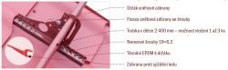 Satjam Těsnění EPDM k držáku pro profilované krytiny