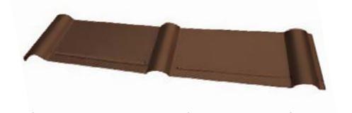 PREFA - Podkladní pás z hliníků pro falcované tašky krátký