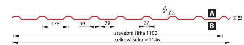 SATJAM Prosvětlovací profil sklolaminátový SAT18