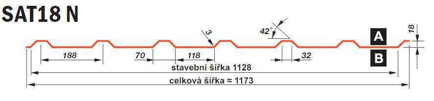 SATJAM Prosvětlovací profil sklolaminátový SAT18 N