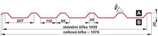 SATJAM Prosvětlovací profil sklolaminátový SAT35