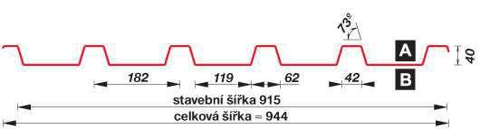 SATJAM Prosvětlovací profil sklolaminátový SAT40