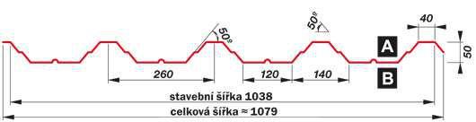 SATJAM Prosvětlovací profil sklolaminátový SAT50