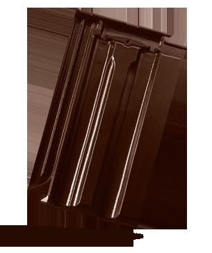 GRANÁT 13 posuvná taška - základní (SLEVU NA ZBOŽÍ ZÍSKÁTE POPTÁVKOU) - glazura tmavohnědá BRAMAC