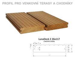 LunaDeck2 26x117 mm, boč. úchyty