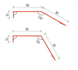 Okapní plech pod fólii 120 SATJAM ke střešním krytinám a trapézovým plechům