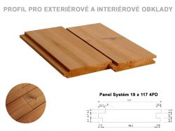 Panel Systém 19 x 117 mm 4PD