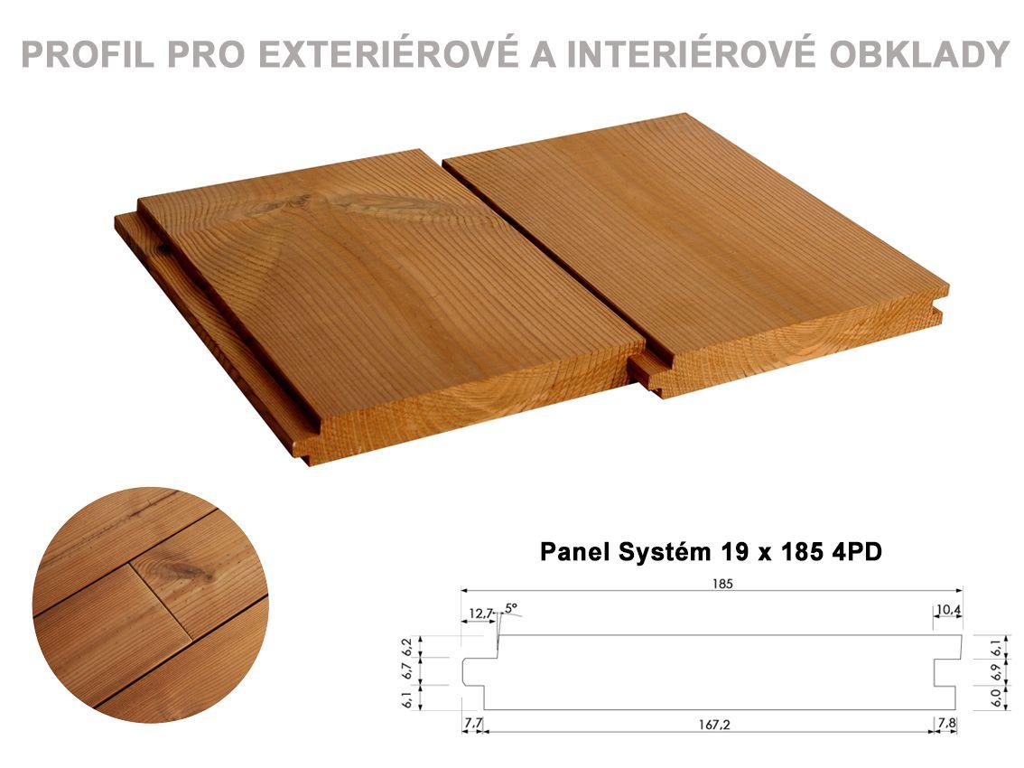 Panel Systém 19x185 mm 4PD délka 4,2m PROKOM