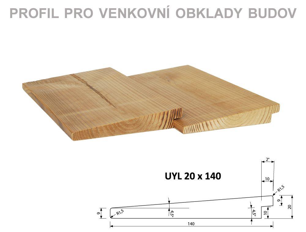 UYL 20x140 mm délka 4,2m PROKOM