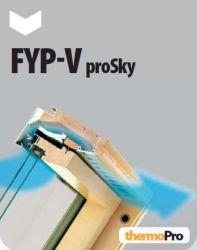 Dřevěná okna se zvýšenou osou otáčení FYP-V U5 proSky FAKRO
