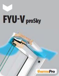 Dřevěná okna se zvýšenou osou otáčení FYU-V U5 proSky FAKRO