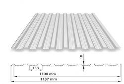 TRAPÉZOVÝ PLECH T18 ARCELOR MAT PE35 (střešní a fasádní profil)