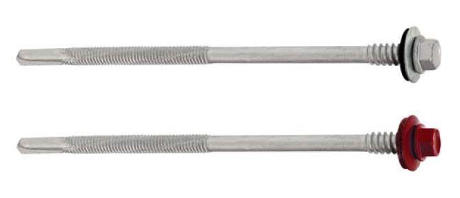 Šroub farmářský 5,5x155mm ke kotvení vrstvených desek do oceli 12mm (pouze po celém balení) KLIMAS