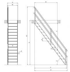 Mlynářské schody MSP-W/MSP-C FAKRO