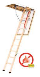 LWF 45 Protipožární schody s dřevěným skládacím žebříkem