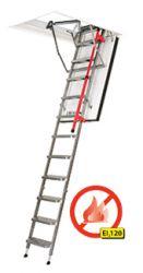 LMF Protipožární schody s kovovým skládacím žebříkem