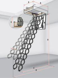 Protipožární stahovací schody LSF FAKRO
