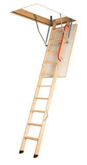 Schody s dřevěným skládacím žebříkem LWK Komfort FAKRO