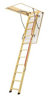 Schody s dřevěným skládacím žebříkem LWL Lux FAKRO