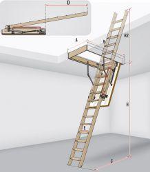 Výsuvné dřevěné schody LDK FAKRO