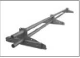 LINDAB - Dvoutrubkový zachytávač sněhu 1500 mm