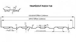 FLORIAN - TRAPÉZOVÝ PLECH T-18 - levná trapézová plechová krytina