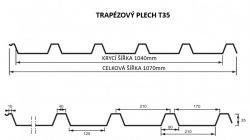 FLORIAN - TRAPÉZOVÝ PLECH T-35 - levná trapézová plechová krytina