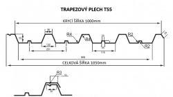 FLORIAN - TRAPÉZOVÝ PLECH T-55 - levná trapézová plechová krytina