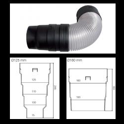 Redukce a přípojka VIRTUM | Ø125 mm, Ø160 mm