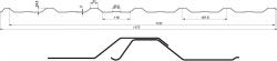Trapézový plech T-18 Plus (Cena dle konkrétní poptávky) BLACHOTRAPEZ