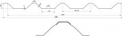 Trapézový plech T-50 (Cena dle konkrétní poptávky) BLACHOTRAPEZ