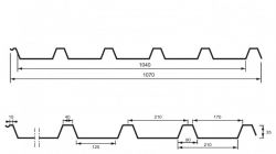 TRAPÉZOVÝ PLECH T35 UNI (střešní a fasádní profil)