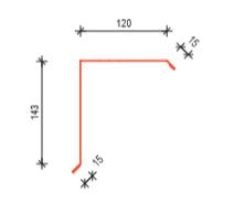 Závětrná lišta horní 2000mm UNI (krycí délka 1900mm) UNIPLECH