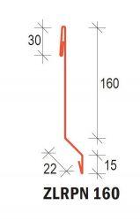 SATJAM - ZLPR 160 Závětrná lišta plochá nízká pro krytinu Rapid