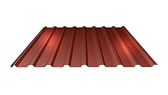 Střešní trapézový plech T18 tloušťky 0,60 mm LINDAB
