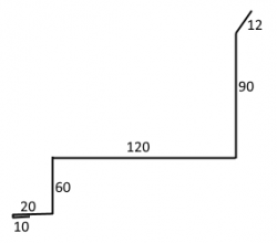 FL - LEMOVÁNÍ BOČNÍ PRO KLIK ke zdi (2000mm)