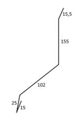 FL - LEMOVÁNÍ ČELNÍ HORNÍ - ke zdi (2000mm)