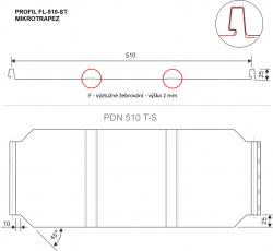 FLORIAN - STŘEŠNÍ PANEL - SP-510-ST MIKROTRAPEZ (krytinový plech)