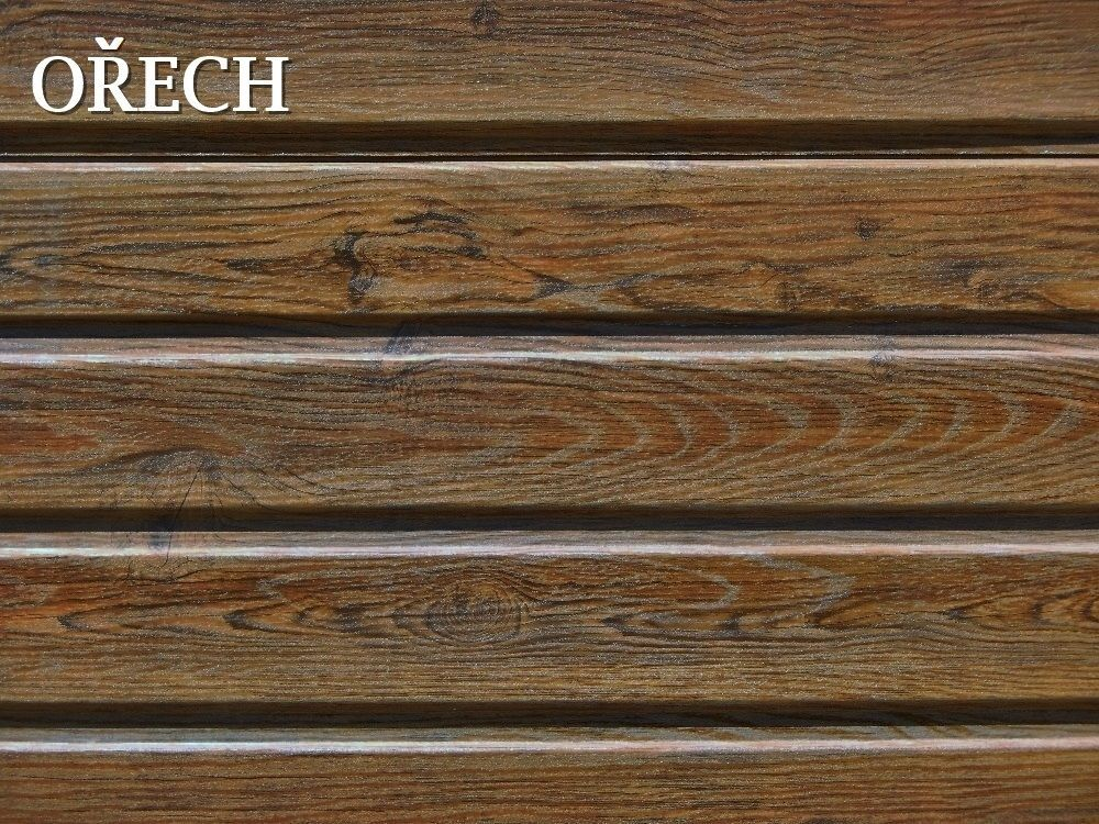 FLORIAN - TRAPÉZOVÝ PLECH T-8 DEKOR - trapézová plechová dekorační fasáda - v dekoru OŘECH