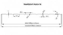 FLORIAN - TRAPÉZOVÝ PLECH T-8 - levná trapézová plechová fasáda